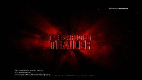Incredible 3D Title - Project for After Effects (Videohive)