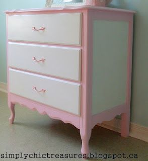 simply chic treasures: Pink & White French Provincial Dresser