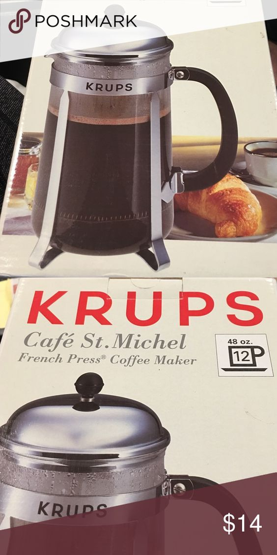 New in box, French press coffee maker New in box with packaging.  Krups French press coffee maker.   Retails for $40. bodum Other