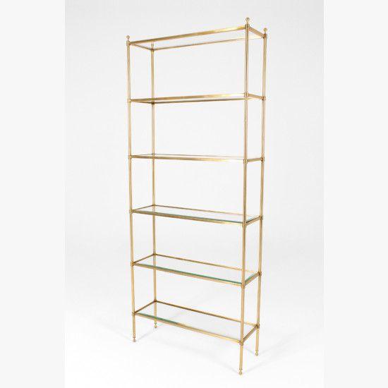 Polished Gold Glass Shelving Unit Glass Shelving Unit Shelves