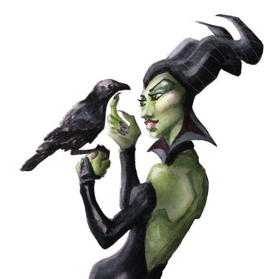 Maleficent by Alyssa L. Tanner, via Behance