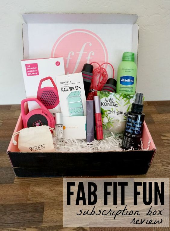 The FabFitFun box comes once each season and is packing full with