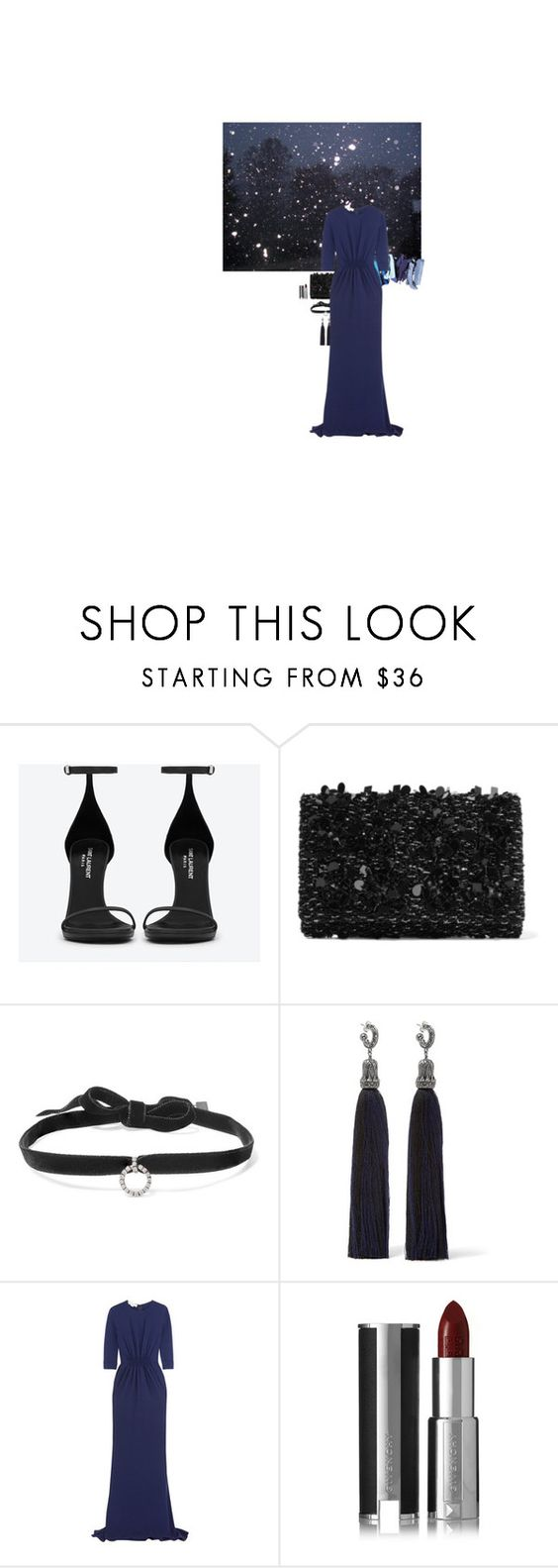 """""""Midwinter Ball"""" by effieee98 ❤ liked on Polyvore featuring Yves Saint Laurent, Oscar de la Renta, DANNIJO, Lanvin, STELLA McCARTNEY and Givenchy"""