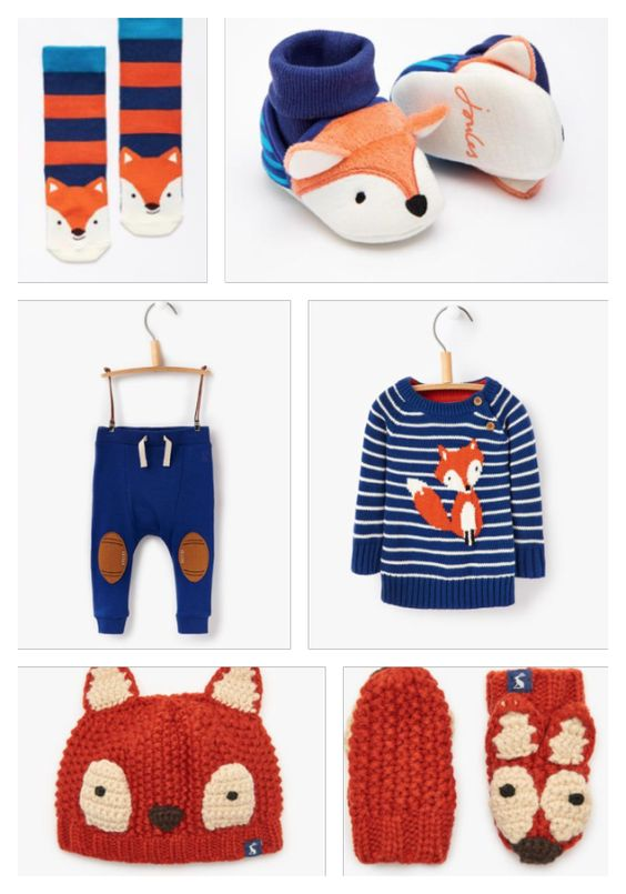 Baby Joules fox print collection for anyone who's loving the latest fox theme this autumn