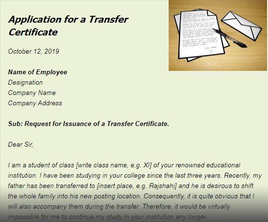 a8e50be19f8fc9adb7c7c7c65a045abb - An Application For Transfer Certificate