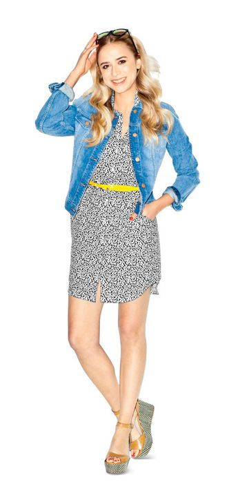 Outfit Idea: Add a Casual Topper  Marina gives it all-American flair with a denim jacket.