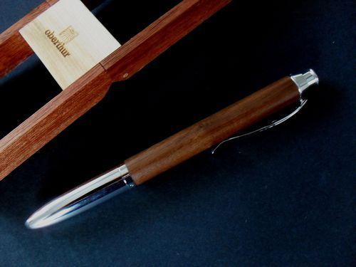 photo n°3 : Beau stylo bille en bois de noyer, modèle Séquoia. Fonction 3 en 1 !