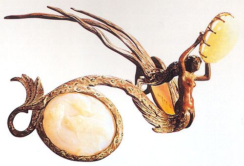 René Lalique, Mermaid, 1897-98