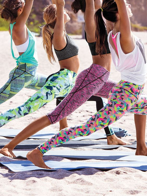 Yoga wear - especially nice for an early morning beach practice but works just as well in the yoga studio.: