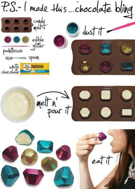 Chocolate gems for cave of wonders/dwarf mining diamonds