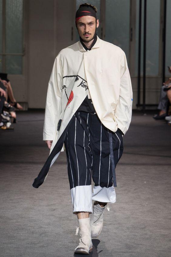 Yohji Yamamoto Spring 2017 Menswear Fashion Show