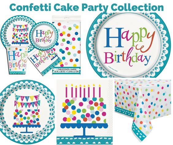 Confetti Cake Birthday Party Banner