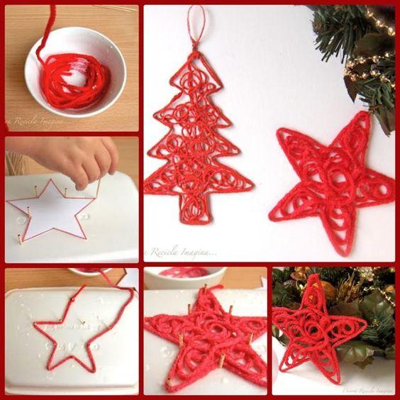 Adornos arbol navidad hechos a mano navidad pinterest - Adornos de navidad hechos a mano por ninos ...