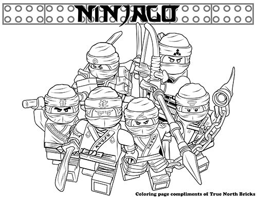 Coloring Page Secret Ninja Force Ninjago Coloring Pages Lego