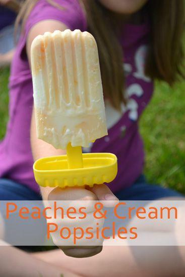 ... peaches and more yogurt popsicles yogurt popsicles cream peaches fun