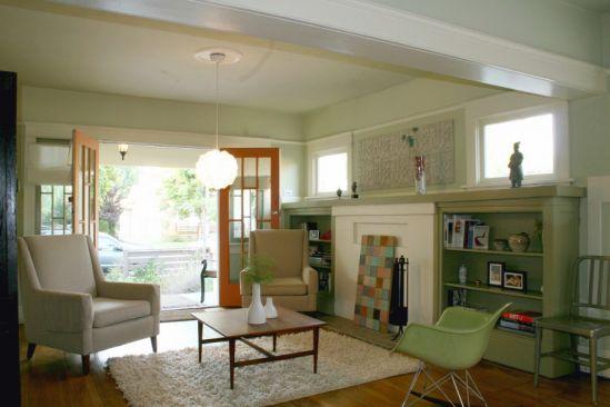 Living Room 1918 California Bungalow