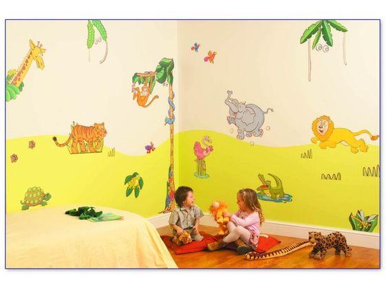 Fun To See Zestaw naklejek Safari Dżungla - Dekoracja pokoju dla dziecka - Satysfakcja.pl