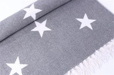 Teppich mit Sternen, grau/weiss
