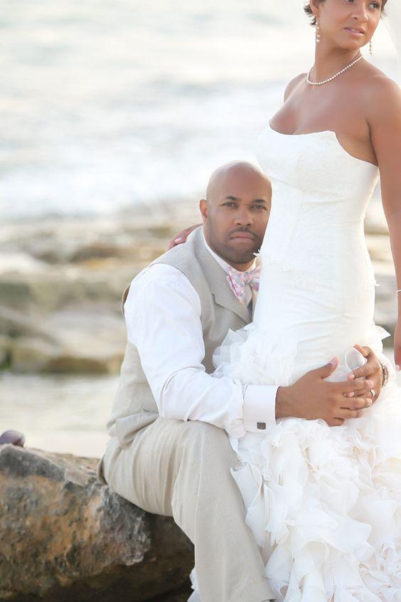 ❤ African American, Black Bride & Groom, Black Love - Black • L❤VE