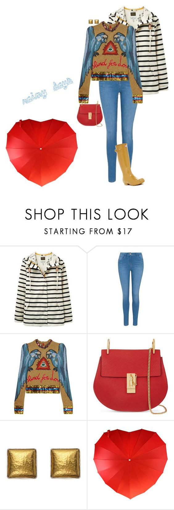 """Unbenannt #739"" by lila77 ❤ liked on Polyvore featuring Joules, George, Gucci, Chloé, Gurhan and Hunter"