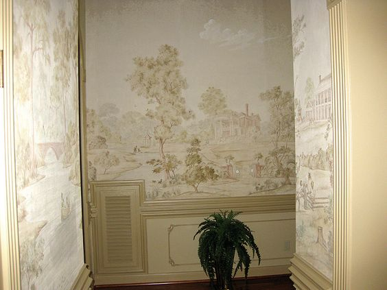 Pinterest the world s catalog of ideas for Colonial mural wallpaper