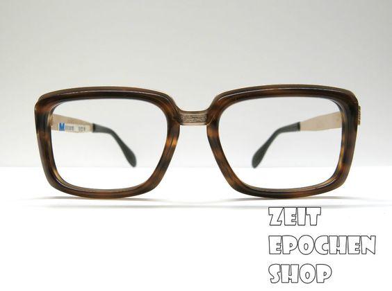 Vintage Metzler Germany 1/10 12K Gold   Brille 60er Jahre  NOS Horn men glasses