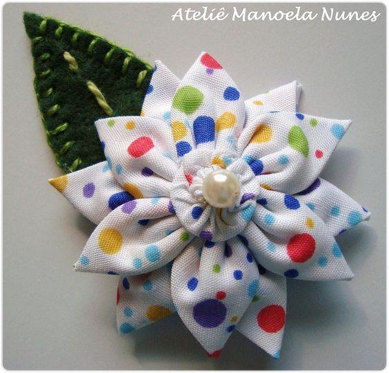 Ateliê Manoela Nunes: Flores de Fuxico