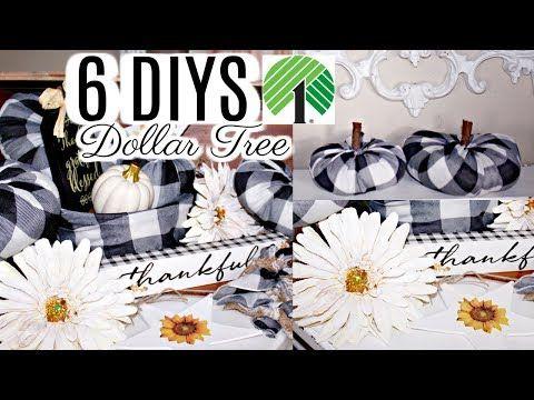 6 Diy Dollar Tree Fall Decor Crafts 2019 I Love Fall Ep 4