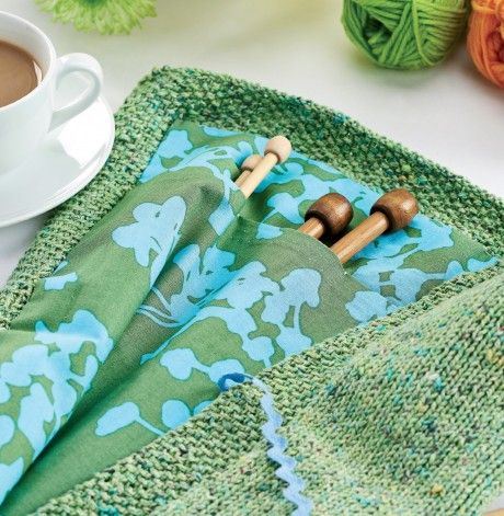Knitting Needle Roll Pattern : Needle Roll - free knitting pattern to download over the Lets Knit websi...