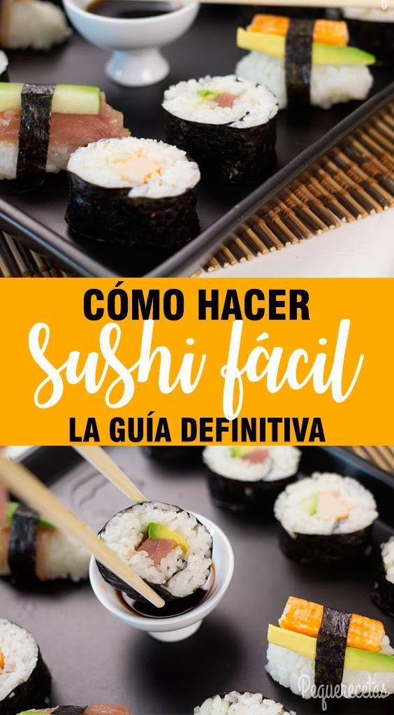 Sushi Fácil En 5 Pasos Cómo Hacer Sushi Casero Como Hacer