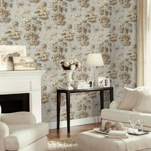 Lakeside Toile Wallpaper By Patton Wallcoverings Lelands Wallpaper French Countryside Decor Toile Wallpaper Home Wallpaper
