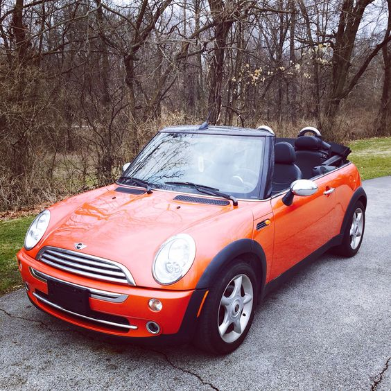 My 2005 Mini Cooper convertible in orange! I love it.
