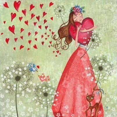 une belle illustration pour parler de l'amoureuse ! personnes nées le 6 du mois ou en juin ou ayant un chemin de vie 6.