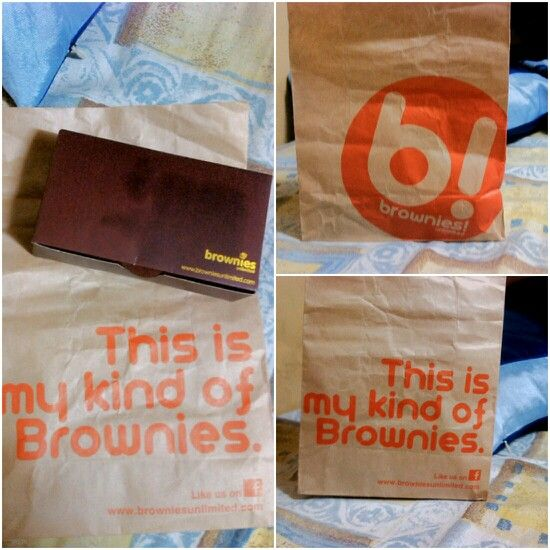 Awesome packaging. Brownies Unlimited.