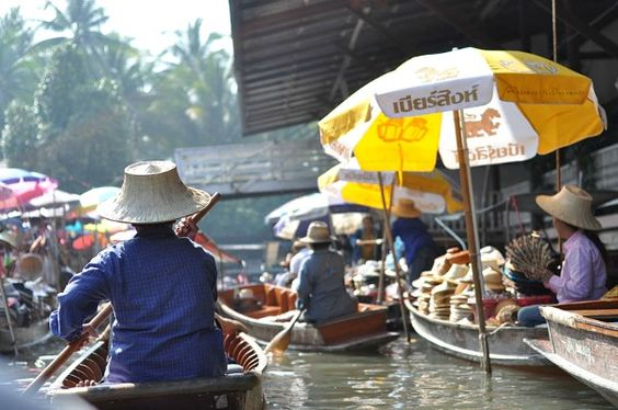 Thai floating market