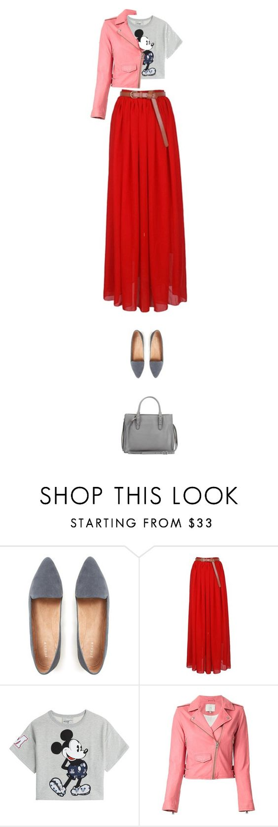 """the red skirt"" by walkthisland ❤ liked on Polyvore featuring Paul & Joe Sister, IRO and Balenciaga"