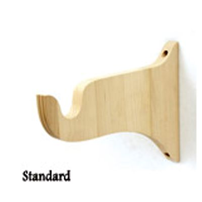 6-1/2″ Projection unfinished standard curtain rod brackets in wood ...