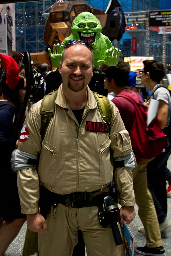 Ghostbuster with Slimer.