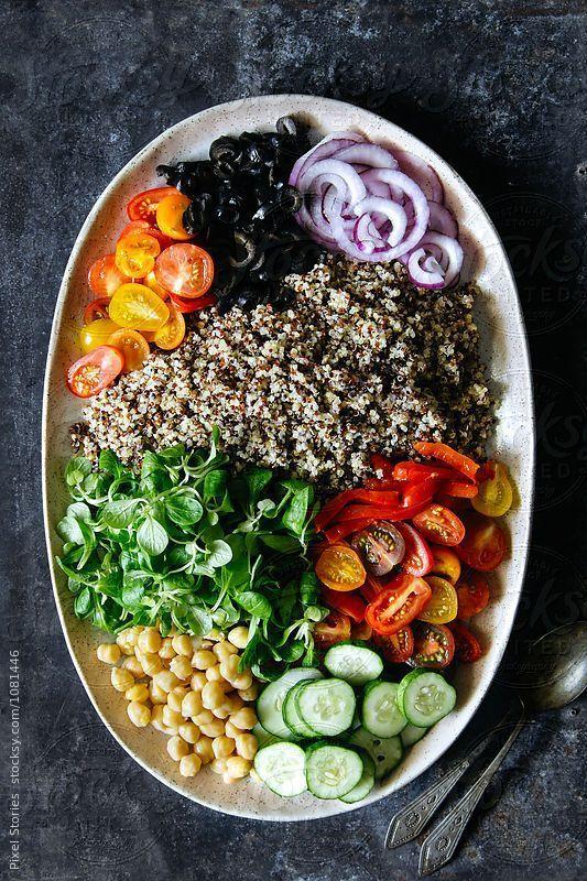 Mediterranean Quinoa Salad By Pixel Stories Luxurybmw Clean Eating Vegetarian Recipes Quick Vegetarian Meals Mexican Food Recipes