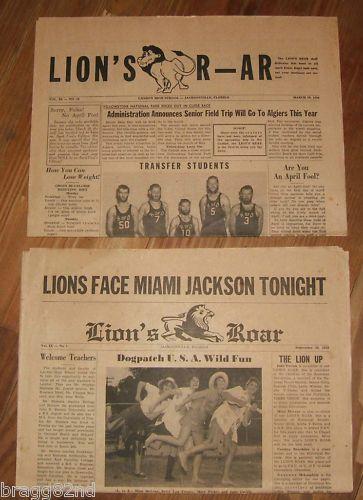 1956 &1958 LANDON HIGH SCHOOL NEWSPAPER #Jacksonville Florida STUDENT NEWS