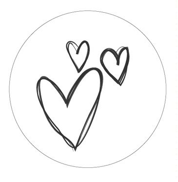 Stickers Hearts wit