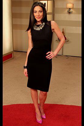 Stacy London: Black Dress by DVF Pink Pumps by Giuseppe Zanotti ...