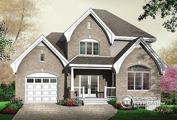 House plans home and foyers on pinterest for Cathedral ceiling home plans