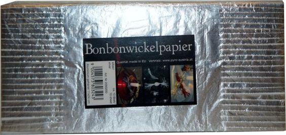 Bonbonwickelpapier Silber Aluminium ca. 10 Blatt