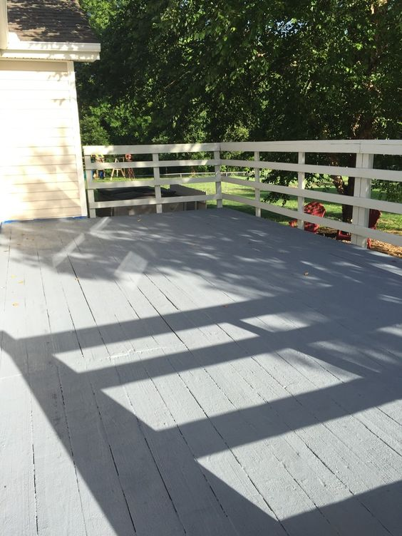 painted deck