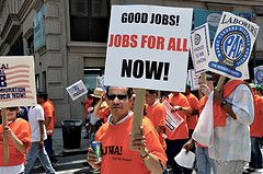 Image: Good Jobs for all NOW, found on flickrcc.net