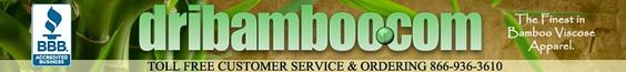 Clothing from Dribamboo.com - The Best in Made from Bamboo Viscose Clothing