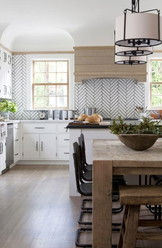 Herringbone tile, good:
