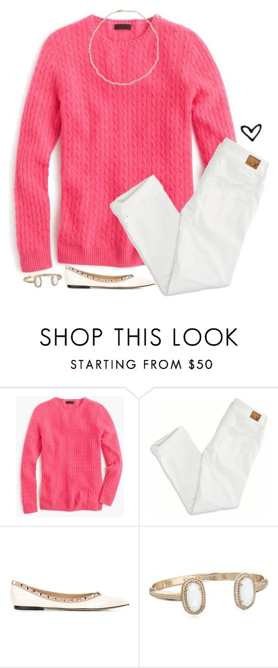 """""""I'll be there for you """" by lilypackard ❤ liked on Polyvore featuring moda, J.Crew, American Eagle Outfitters, Valentino, Cobra & Bellamy, women's clothing, women's fashion, women, female e woman"""