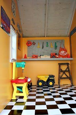 A little boy's playhouse